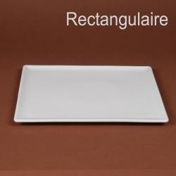 Assiette ou plat rectangulaire 31x24cm
