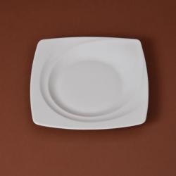 Assiette carrée 25.5cm ,