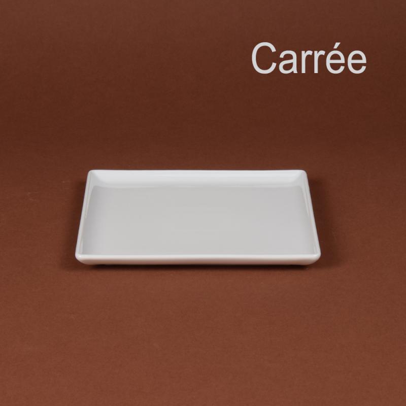 assiette carr e 20 5 cm porcelaine girard. Black Bedroom Furniture Sets. Home Design Ideas