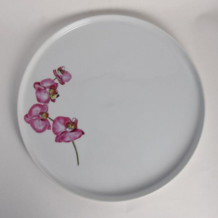 plat a tarte 32cm orchidee porcelaine girard. Black Bedroom Furniture Sets. Home Design Ideas
