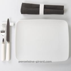 Assiette plate Mikado 29x23cm