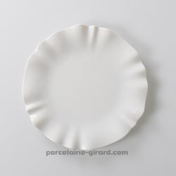 Assiette plate dentellée 28cm , ronde   SWING/