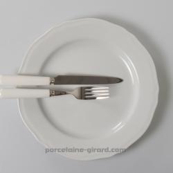 Assiette plate Clara festonnée 26cm