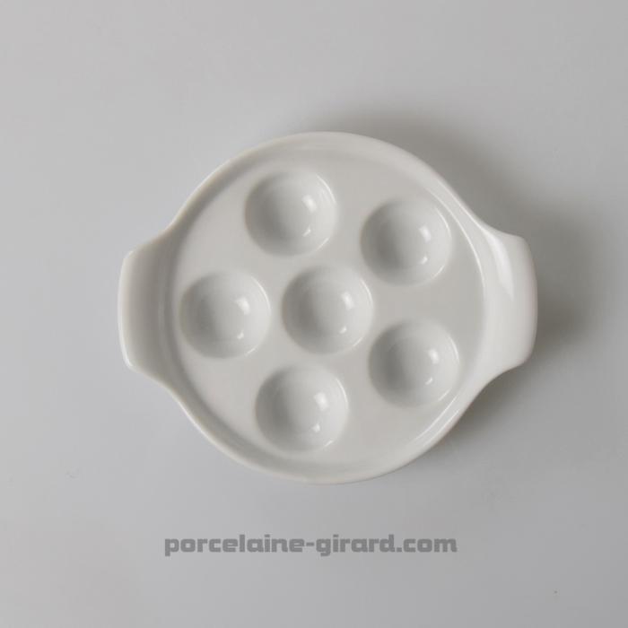 assiette escargots 6 trous vaisselle girard. Black Bedroom Furniture Sets. Home Design Ideas