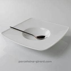 Cette assiette à dégustation et à risotto accueille vos meilleures préparations méditerranéennes. /Epatez vos invités avec un ri