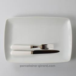 Assiette à entrecôtes 32.5X22.5cm