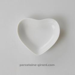 Mise en bouche plate, forme coeur. 7.5X6.5cm/