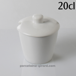 Sucrier ou moutardier Conique 20cl diamètre 8.3cm HT 9cm