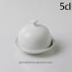 Beurrier rond individuel pour présenter élégamment le beurre./Diamètre 9cm,/Hauteur 7.8cm dont le plateau 1.8cm/