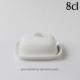 Beurrier individuel pour présenter élégamment le beurre./Hauteur 5.7cm dont plateau 1.6cm/