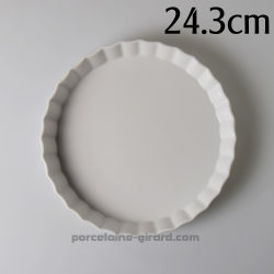 Moule a Tarte 24.3cm, interieur 21cm Ht 3.4cm /