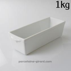 Cette terrine à paté (ou moule à galantine) en porcelaine
