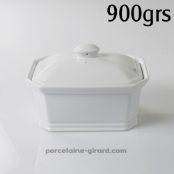 Terrine rectangulaire avec couvercle. Cette terrine en porcelaine sera idéale pour concevoir vos patés. De plus, Cette terrine p
