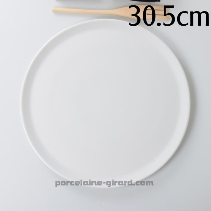 Dégustez de délicieuses pizzas dans ces larges assiettes prévues à cet effet./Existe en deux tailles.
