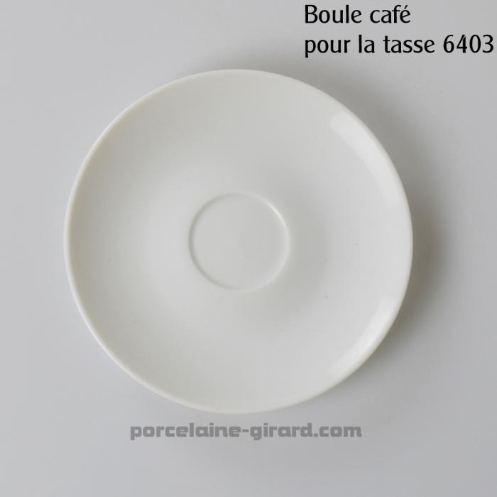 Sous tasse à Café Louvre, /Se complète avec la tasse, ref 6403./La collection Louvre se décline en trois modèles: Déjeuner - Thé