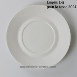 Sous tasse à Déjeuner Empire, /Se complète avec la tasse, ref 6094./La collection Empire se décline en trois modèles: Déjeuner -