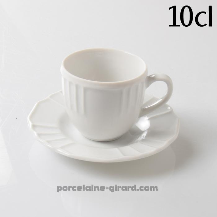 Tase et sous tasse à café 10cl Festonnée FLAVIO