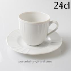 Tasse et sous à thé Festonnée 24cl  FLAVIO/