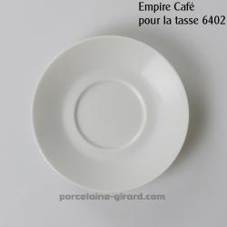 Sous tasse à Café Empire, /Se complète avec la tasse, ref 6402./La collection Empire se décline en trois modèles: Déjeuner - Thé