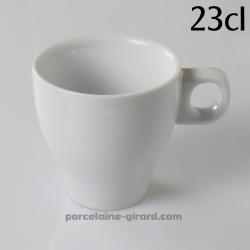 Tasse cappuccino Clara 23cl diamètre 8cm HT 8.5cm