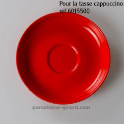 Sous tasse cappuccino Clara rouge diamètre 15cm