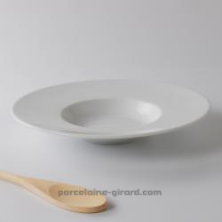 Cette assiette à risotto accueille vos meilleures préparations méditerranéennes. /Avec son fond creux, elle garde au chaud vos s