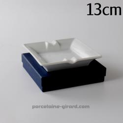 Cendrier carré 13cm dans une boite cadeau bleue