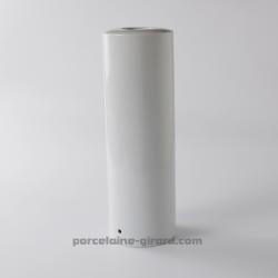 Pied de lampe cylindrique diametre 10cm HT 30cm/porcelaine