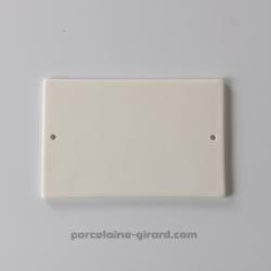 Plaque rectangulaire percée 14.5x9.5cm