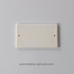 Plaque rectangulaire percée 12x6.8cm