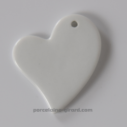Pendentif Coeur Asymétrique 5x5.5cm