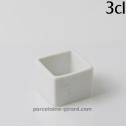 Mini cube. Existe en trois tailles. /Passent au lave-vaisselle, au micro-ondes et au four./5cl