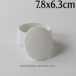 Boite ovale Elise 7.8X6.3cm HT 4.2cm