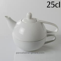 Soyez solitaire et prenez le temps pour votre tea time ! /Deux en un -  théière et tasse./