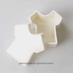 Boite T Shirt  7.5X7cm HT4cm  1er choix/porcelaine fine
