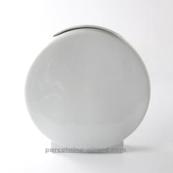 Vase rond et plat  SATURNE 24.3X7CM HT 24.5CM
