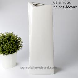 Vase Silhouette HT 41cm/NE PAS DECORER CERAMIQUE