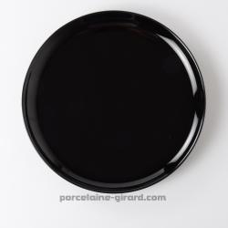 Assiette plate black 25.9cm