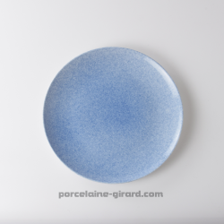 Assiette bleue mouchetée 19.6cm