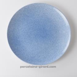 Assiette plate bleue mouchetée 25.9cm