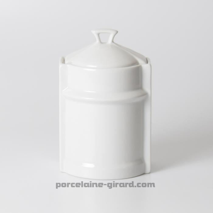 Pot de cuisine fantaisie ovale avec couvercle hauteur 13cm